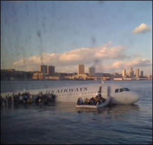Janis Krums' Photo of US Airways Flight 1549 in The Hudson River